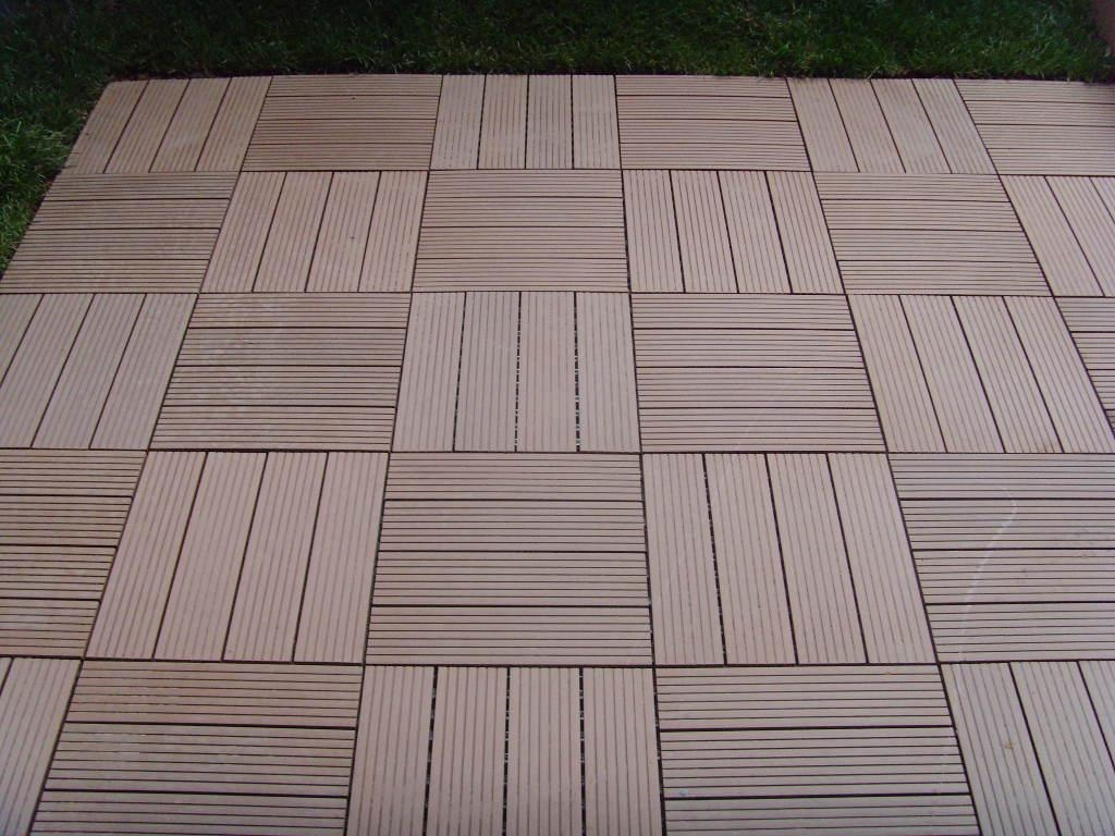 Wood plastic composite decking tile edt meisen china for Composite flooring for decks