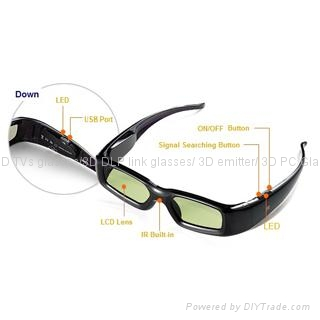Universal 3D active TV Glasses for all brands 3D TVs ...