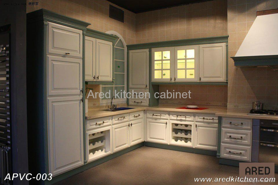 Pvc kitchen cabinet apvc 001 ared china manufacturer for China kitchen cabinets manufacturers
