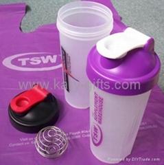 BPA Free Blender Ball Plastic Protein Shaker Bottle