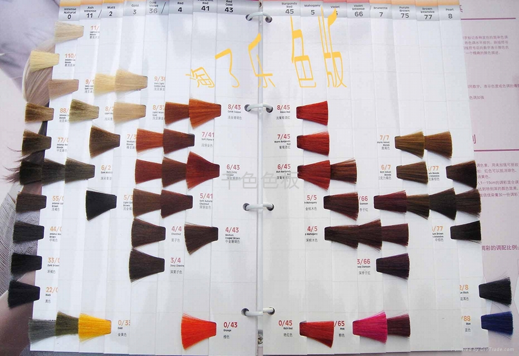 hair color swatch. Thousands of color swatches