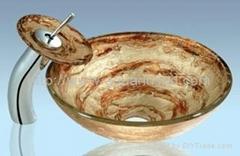 供應高檔玻璃洗手盆 AQ3002