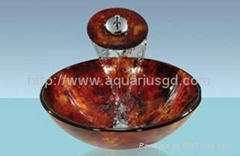 Wash Basin Sink With Chrome Faucet AQ3016