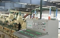Mould pressing cable drum production line