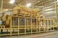 Cotton stalk particle board line