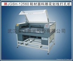 Laser engraving and hollowing machine for shoes