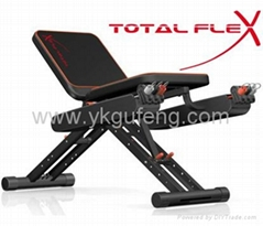 Total flex bench fitness equipmen