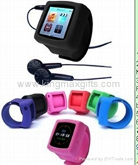 Popular ipod mp4 silicone watch