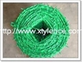 vinyl coated barbed wire fence