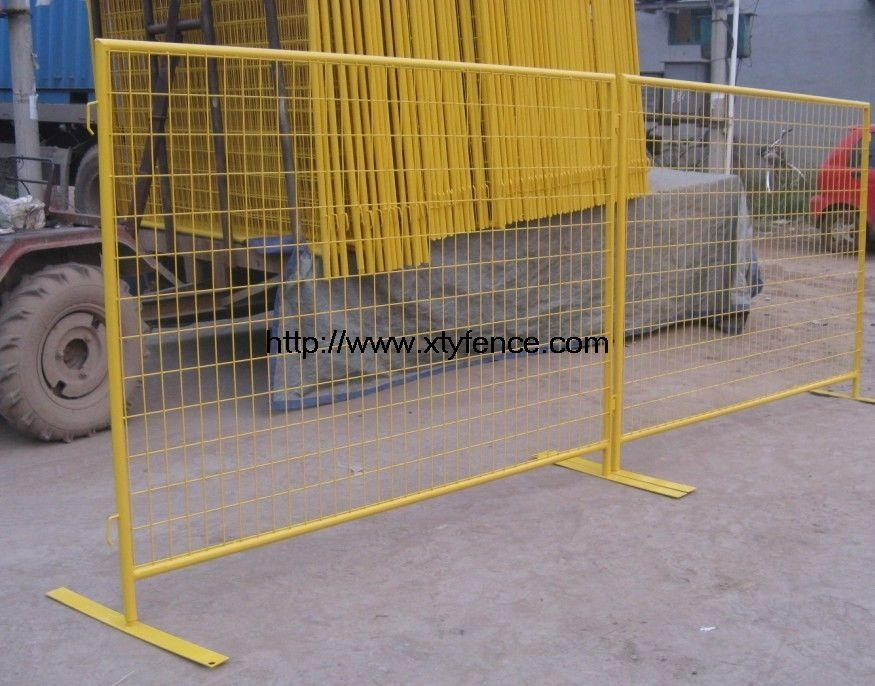 Temporary fence in construction site