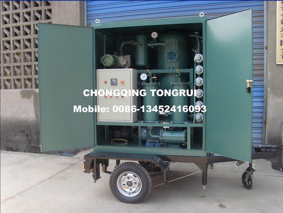 Two stage vacuum transformer oil purification machine 1