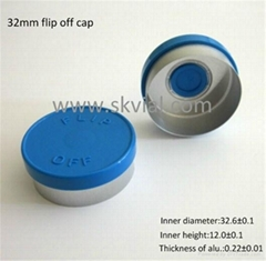 32mm flip off bottle seal cap