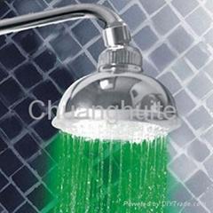 Temperature Sensitive LED 4 Color changing Shower Head