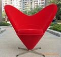 Heart chair fiberglass leisure chair