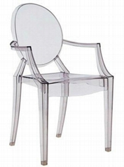 Ghost chair acrylic PC leisure chair living room dining chair outdoor furniture