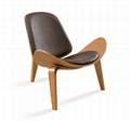 Solid wood chair shell chair designer