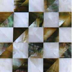 blacklip  and fresh shell mosaic