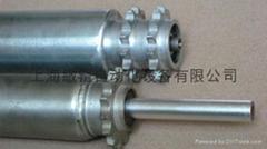 供应钢制链轮动力滚筒-双链辊筒