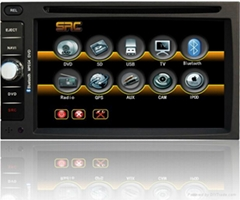 """Two Din 6.2"""" car dvd player #sd6203 with FIXED TFT LCD monitor"""