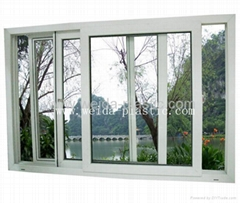 塑鋼窗(80三軌推拉窗)