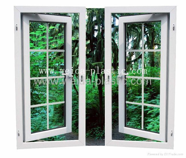UPVC 60 Casement window French style 1
