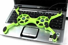 笔记本电脑可伸收缩折叠八爪鱼USB散热垫