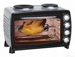 electric oven with doubl