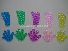 Foot shape PVC sucker