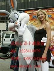 厂价出售武汉心语卡通行走人偶服装兔八哥