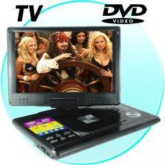 Portable Multimedia DVD Player with 12 Inch Widescreen