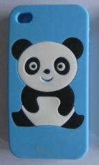 手机硅胶套智慧熊 C01,适用iphone 4/4S.