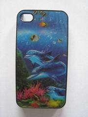 立体3D4S手机保护套 海豚 D01
