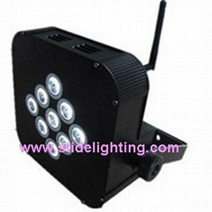 LED Par with Battery Power & Wireless DMX  9LEDs*8W
