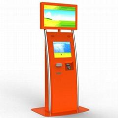 dual screen self-service kiosk
