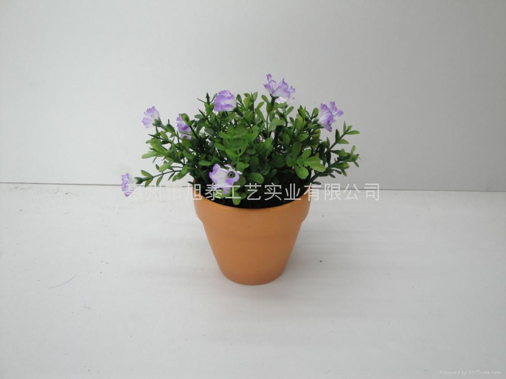 人造塑膠絲花(小盆栽) 1
