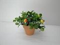 人造塑膠絲花(小盆栽) 2