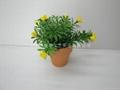 人造塑膠絲花(小盆栽) 3