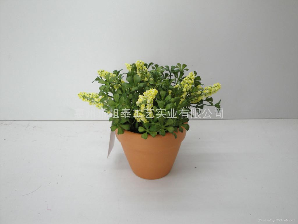 人造塑膠絲花(小盆栽) 5