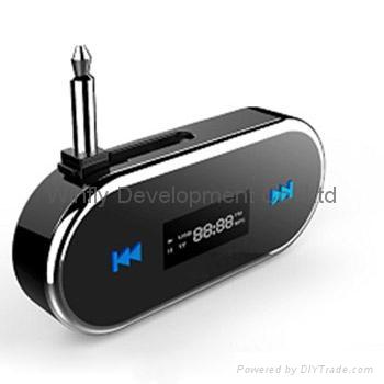 3.5mm headphone jack in-car handsfree fm transmitters 1