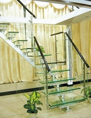 L shape stainless steel staircase