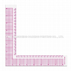 L-Square Inch And Metric Garment Ruler 5808