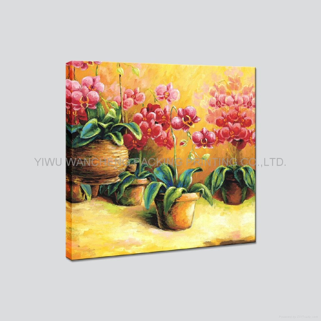 Rose flower art printing canvas painting wa22031 for How to canvas art