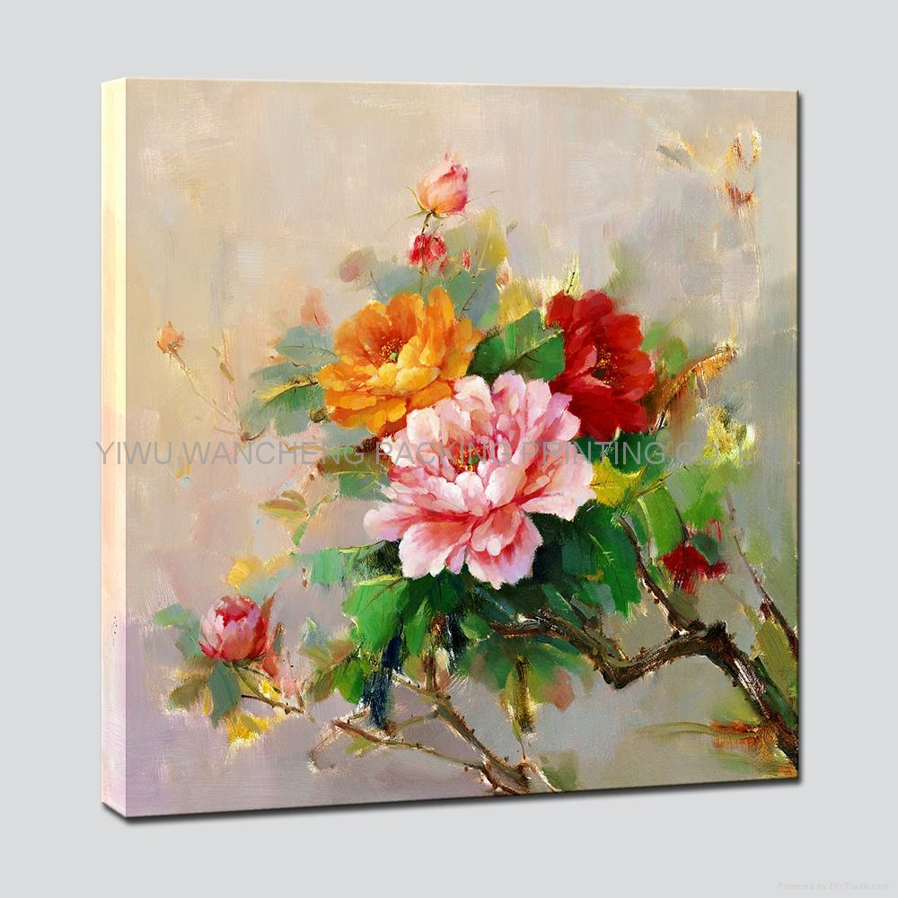 Flower Paintings On Canvas Of Rose Flower Art Printing Canvas Painting Wa22031