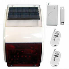 wireless solar alarm panel,outdoor siren