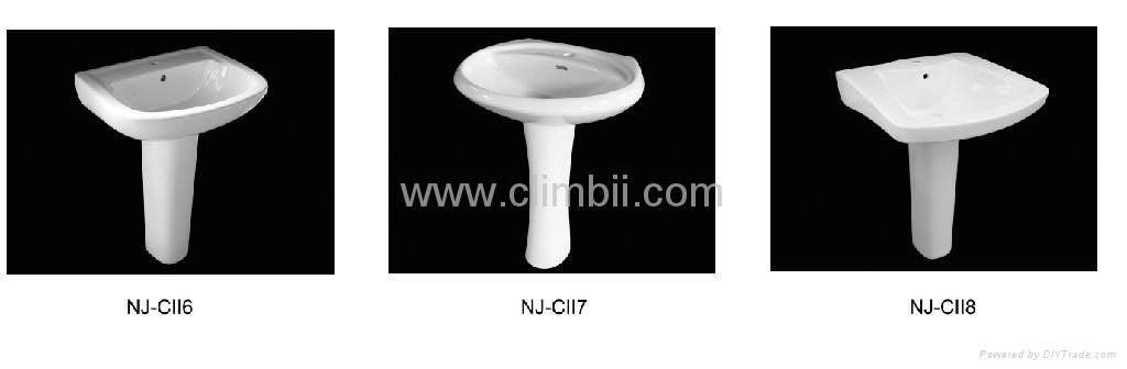 Two Pieces Washing Basin with Pedestal Lavabo Bathroom Sinks. Two Pieces Washing Basin with Pedestal Lavabo Bathroom Sinks   NJ