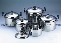 DY-4010 10pcs set stainless steel USA high pot