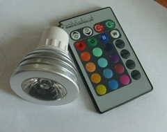 RGB remote control color changing light