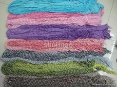 Cotton yarn-dyed scarves fine lattice were