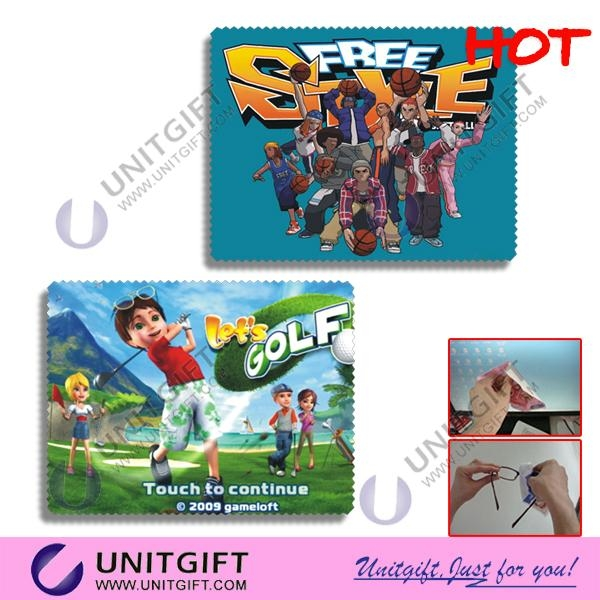 Full color priniting microfiber cleaning cloth 1
