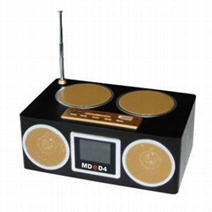 MD-D4 Multi-function Mobile Speaker Digital FM Radio